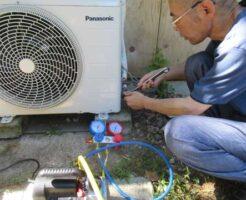 DIYでエアコン取付